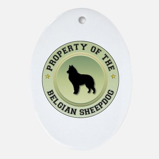 Sheepdog Property Oval Ornament