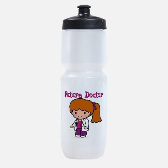 FunnyNewfuturedoctorgirl copy.png Sports Bottle