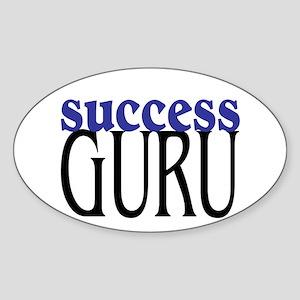 Success Guru Oval Sticker