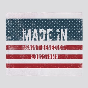 Made in Saint Benedict, Louisiana Throw Blanket