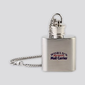 World's Most Awesome Mail Carrier Flask Necklace