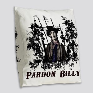 Pardon Burlap Throw Pillow