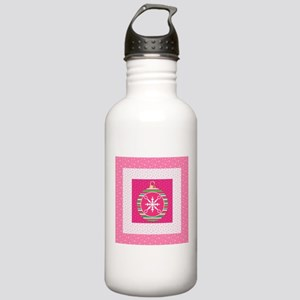 Christmas Ornament in Pink Water Bottle