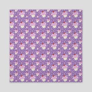 Purple Cupcake pattern Queen Duvet