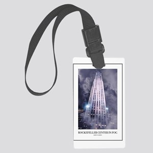 Rockefeller-Poster Large Luggage Tag
