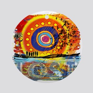 LOST OCEANIC SUNSET NEW copy Round Ornament