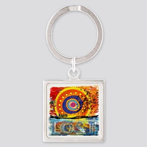 LOST OCEANIC SUNSET NEW copy Square Keychain