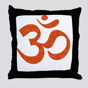 orange_om Throw Pillow
