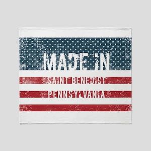 Made in Saint Benedict, Pennsylvania Throw Blanket