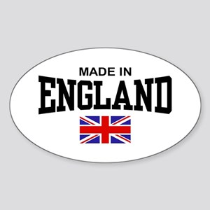 Made in England Oval Sticker