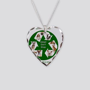 Dog Recycle Necklace Heart Charm