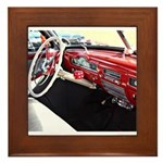Classic car dashboard Framed Tile