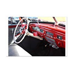 Classic Car Dashboard Poster Print (Mini)