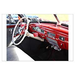 Classic car dashboard Poster Art