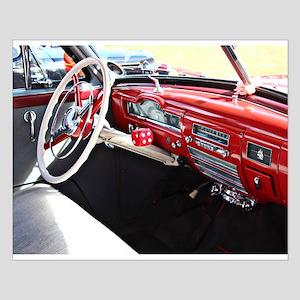 Classic car dashboard Poster Design