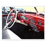 Classic car dashboard Poster Design