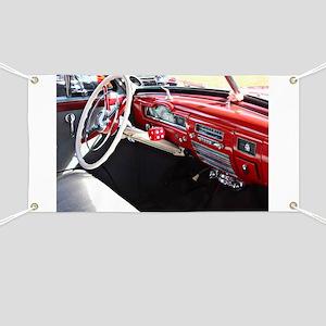 Classic car dashboard Banner