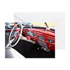 Classic Car Dashboard Greeting Cards