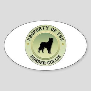 Collie Property Oval Sticker