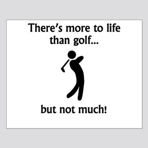 More To Life Than Golf Poster Design