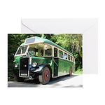Vintage Bus Greeting Cards