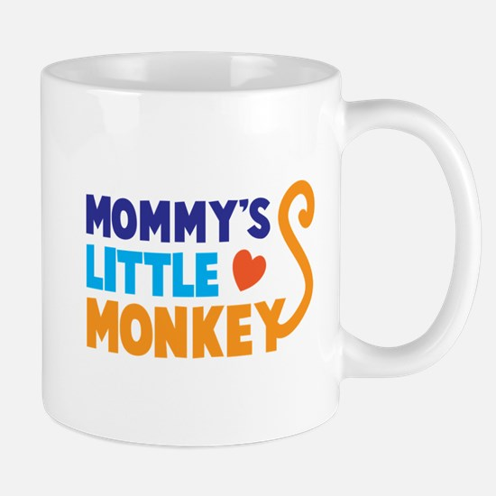Mommys little MONKEY with a tail Mugs