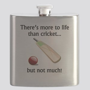 More To Life Than Cricket Flask