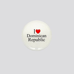 """I Love Dominican Republic"" Mini Button"