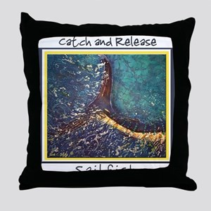 Sailfish Tail<br>Throw Pillow