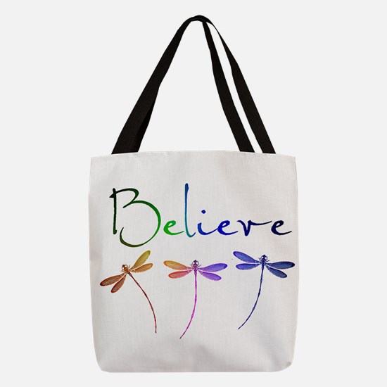Believe...dragonflies Polyester Tote Bag