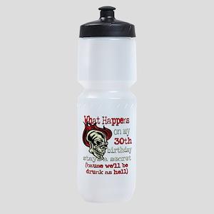 Skullbirthday30 Sports Bottle