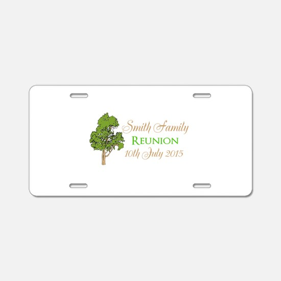 Customized Family Reunion Aluminum License Plate