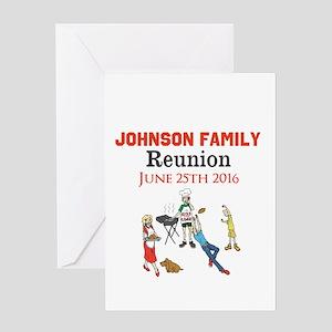 Custom Family Renion BBQ Greeting Cards