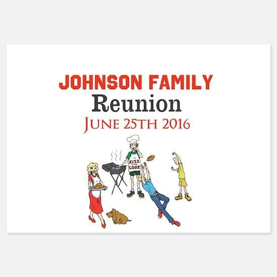 Custom Family Renion BBQ Invitations