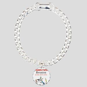 Custom Family Renion BBQ Charm Bracelet, One Charm