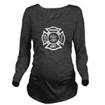 Firefighter EMT Long Sleeve Maternity T-Shirt