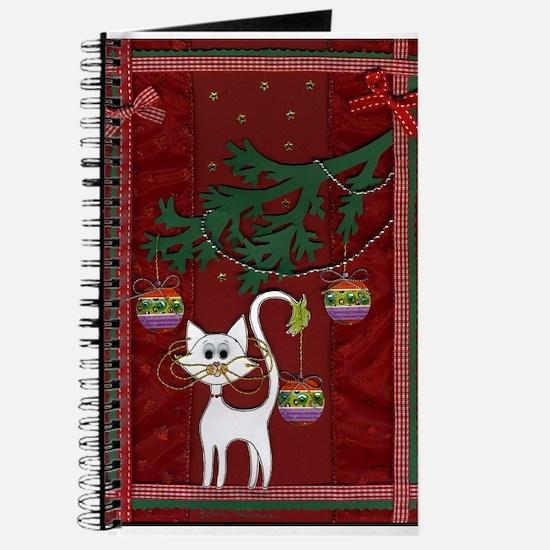Handmade Kitty Jingle Christm Journal