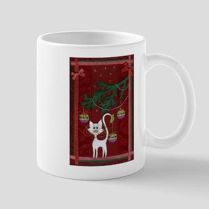 Handmade Kitty Jingle Christm Mug