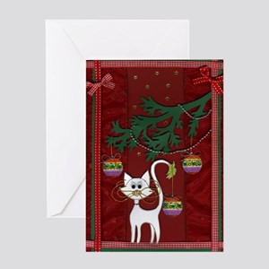 Handmade Kitty Jingle Christm Greeting Card