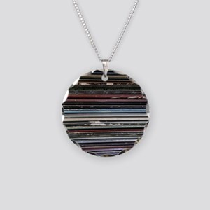 For the Record Necklace Circle Charm