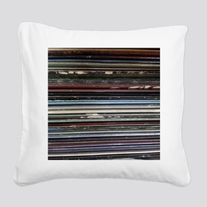 For the Record Square Canvas Pillow