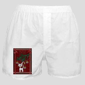 Handmade Kitty Jingle Christmas Card Boxer Shorts