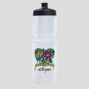 20th Birthday Beauty Sports Bottle