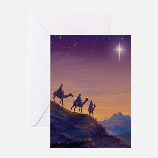 Unique 3 kings Greeting Card