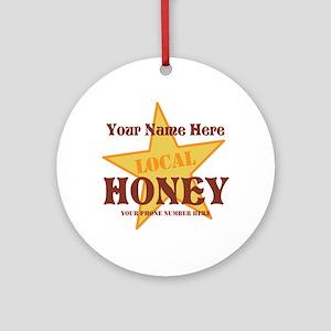 Local Honey Round Ornament