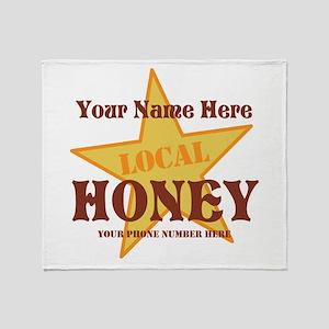 Local Honey Throw Blanket