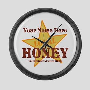 Local Honey Large Wall Clock