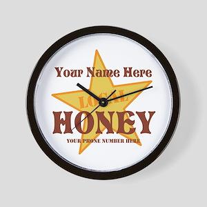 Local Honey Wall Clock