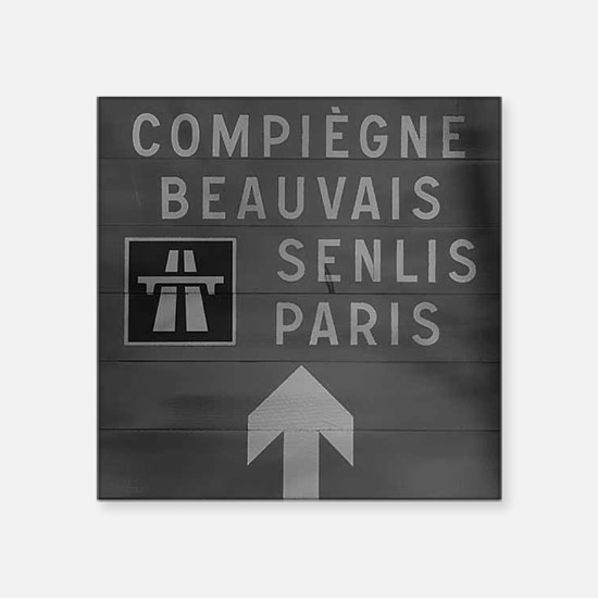 "PARIS PARK SIGN Square Sticker 3"" x 3"""