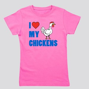 I Love Chickens Girl's Tee